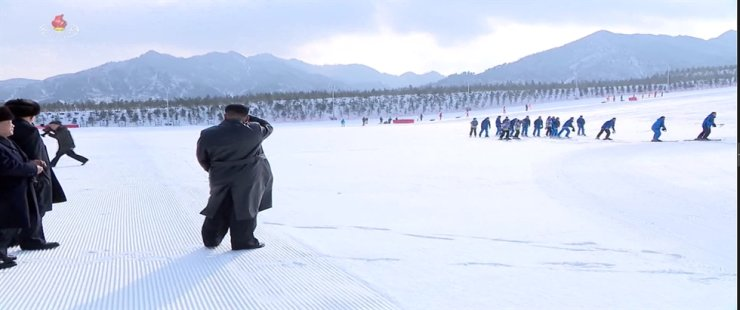 North Korean leader Kim Jong-un in a latest media footage Yonhap