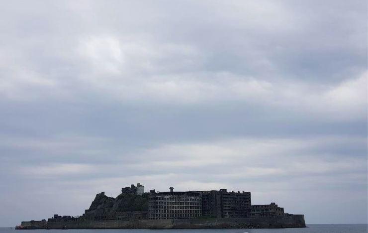 Hashima Island, also known as Battleship Island, off the coast of Nagasaki in Japan / Yonhap