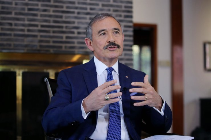 U.S. Ambassador Harry Harris speaks during an interview at the U.S. Embassy in Seoul, Tuesday. Yonhap
