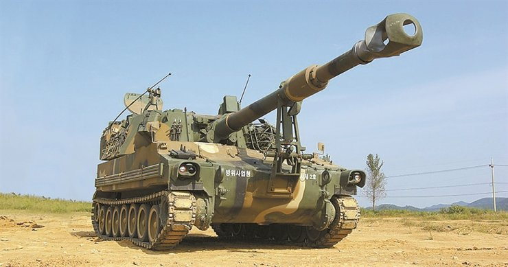 K55 A1 self-propelled howitzers