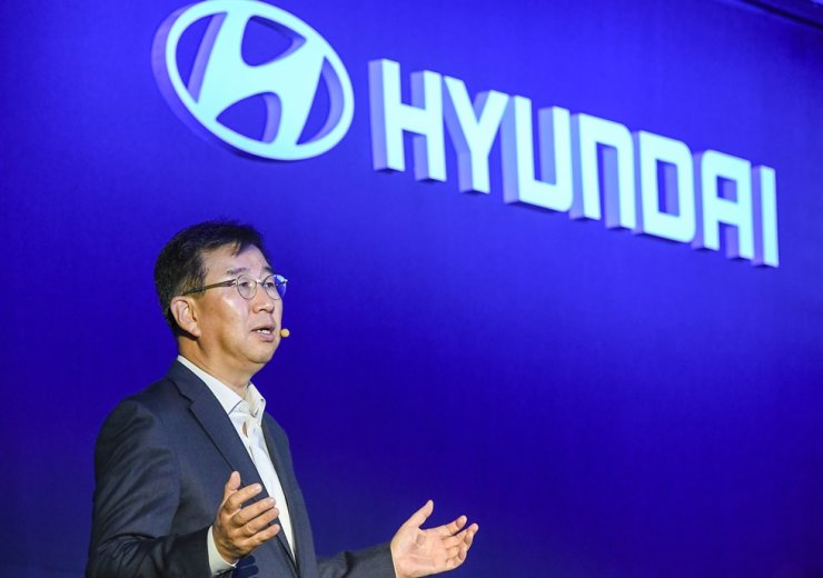 Hyundai Motor Company CEO Lee Won-hee speaks during an investor day event at the Conrad Hotel on Yeouido, Seoul, Wednesday. Courtesy of Hyundai Motor