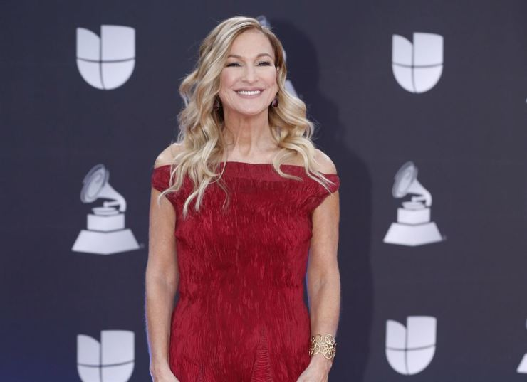 This Nov. 14, 2019 file photo shows Grammys CEO Deborah Dugan at the 20th Latin Grammy Awards in Las Vegas. AP