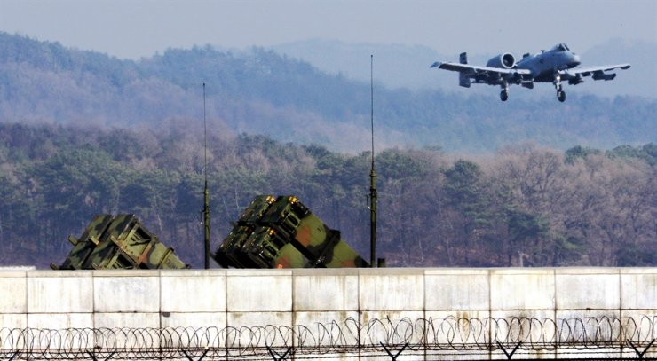 Patriot missile units are seen inside the United States Air Force's Osan Air Base in Peongtaek, Gyeonggi Province, October 2018. Korea Times file