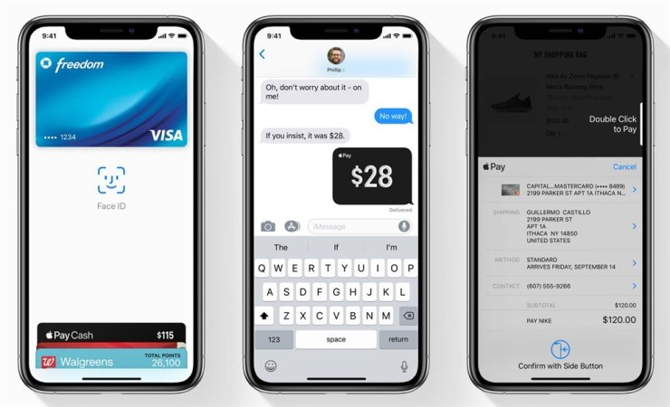 Apple Pay's user interface / Captured from Apple's official website