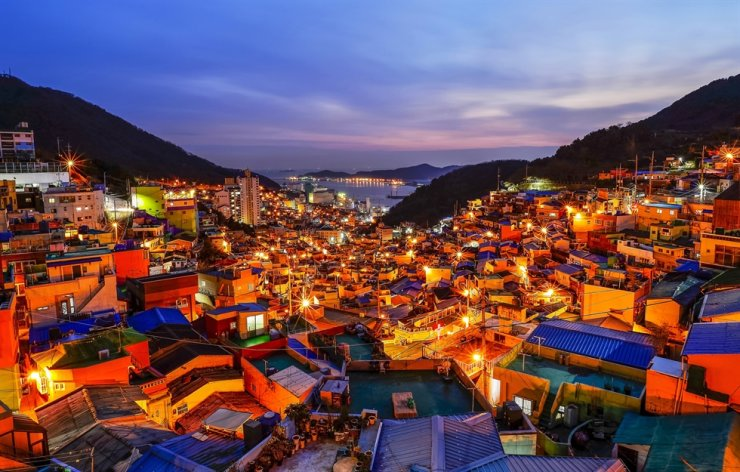 Gamcheon Culture Village in Busan's Saha district has become a tourist hot spot, drawing an increasing number of visitors. / Courtesy of Korea Tourism Organization