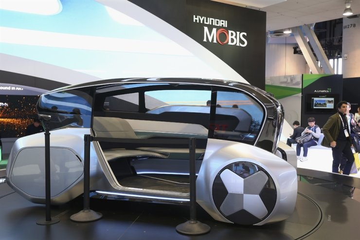 The Hyundai Mobis M.Vision S concept autonomous vehicle is show at the Hyundai pavilion during the CES tech show Wednesday, Jan. 8, 2020, in Las Vegas. AP