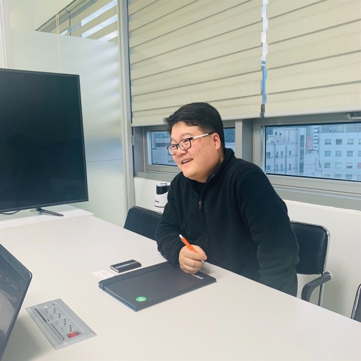 Paymint CEO Kim Young-hwan shares his vision in an interview at his office in Seoul, Dec. 26. Courtesy of Paymint