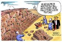 Build the fruitcake wall