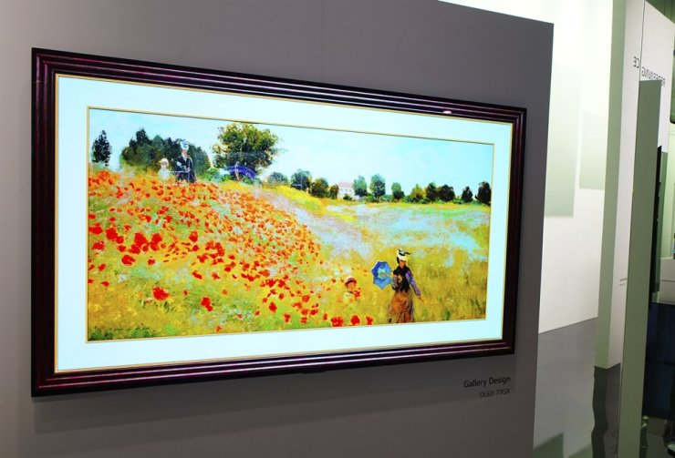 LG's new minimalist, art-inspired Gallery OLED TV Series with an ultra-thin form factor that sits flush to the wall and is a mere 20 millimeters thin was unveiled at CES 2020 in Las Vegas. AP-Yonhap