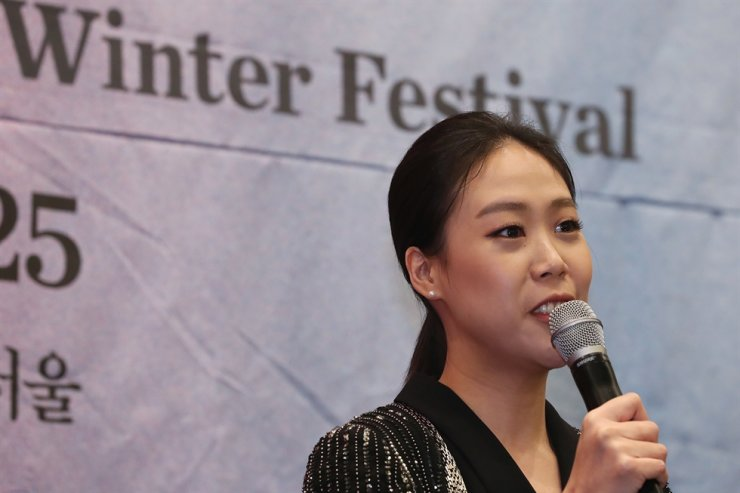 Son Yeol-eum, artistic director of the classical music festival 'Music in PyeongChang Winter Festival,' speaks during a press conference at Four Seasons Hotel, central Seoul, Monday. Yonhap