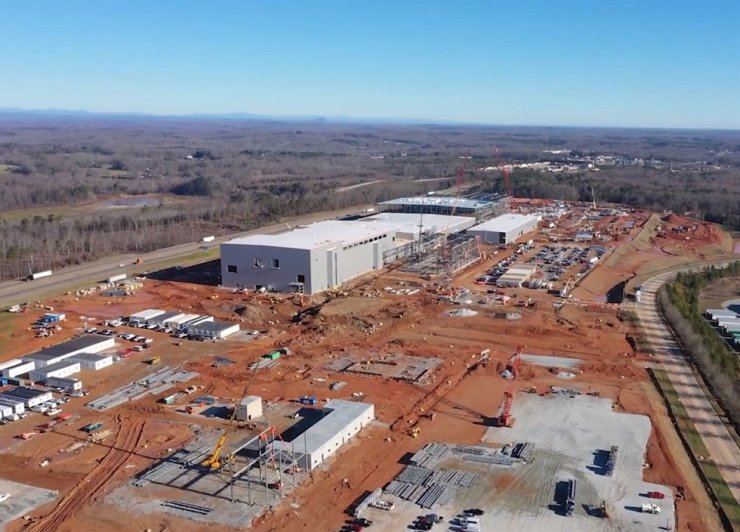 The construction site of SK Innovation's electric vehicle battery plant in the U.S. state of Georgia. Courtesy of SK Innovation