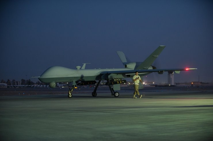 A U.S. Air Force MQ-9 Reaper, the drone model suspected to have been used for the assassination of prominent Iranian military leader Qassem Soleimani. Captured from U.S. Air Force homepage