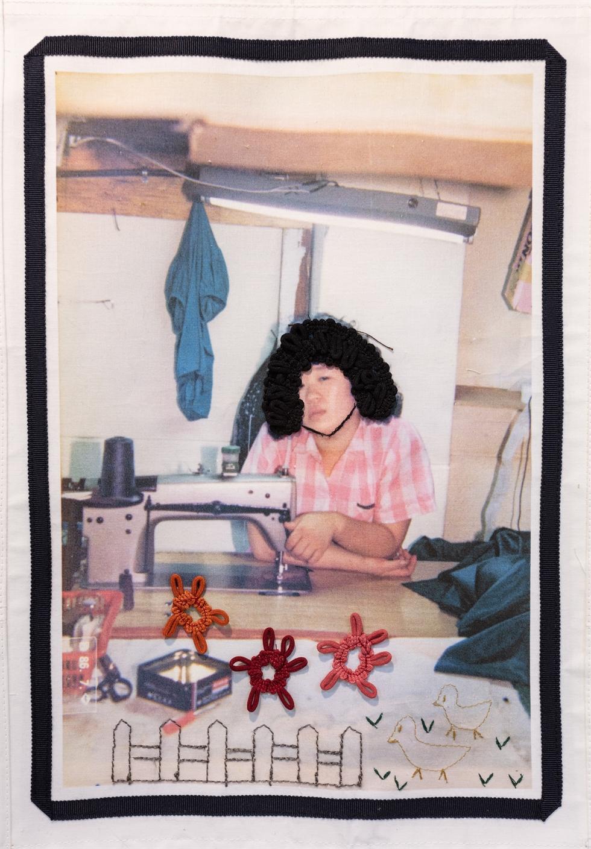 A fabric art design for the exhibition 'Sida's dream' / Courtesy of Chun Tae-il Memorial