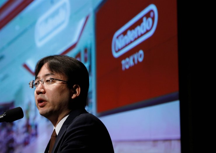 Nintendo President Shuntaro Furukawa speaks at a news conference in Tokyo, Japan Jan. 31, 2020. Reuters