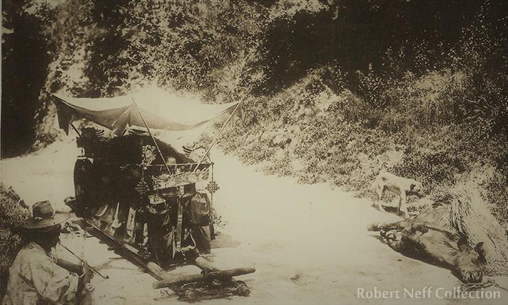 A Korean funeral, circa 1900s.  Robert Neff Collection