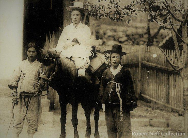 A rider with his horse handler, circa 1900-1910. Robert Neff Collection