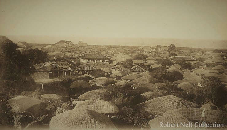 Within the walls of Jeju City, circa 1900-1910. Robert Neff Collection