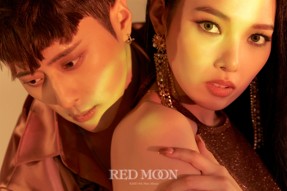 Mixed-gender K-pop group KARD released its fourth mini-album 'RED MOON' on Wednesday. Courtesy of DSP Media