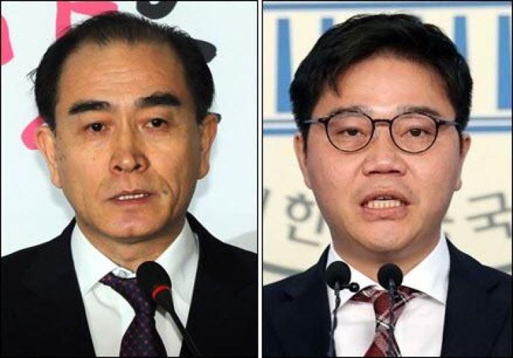 Thae Yong-ho, left, and Ji Seong-ho / Yonhap