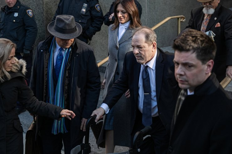 Film producer Harvey Weinstein leaves at New York Criminal Court for his sexual assault trial in the Manhattan borough of New York City, New York, U.S., Feb. 21, 2020. Reuters