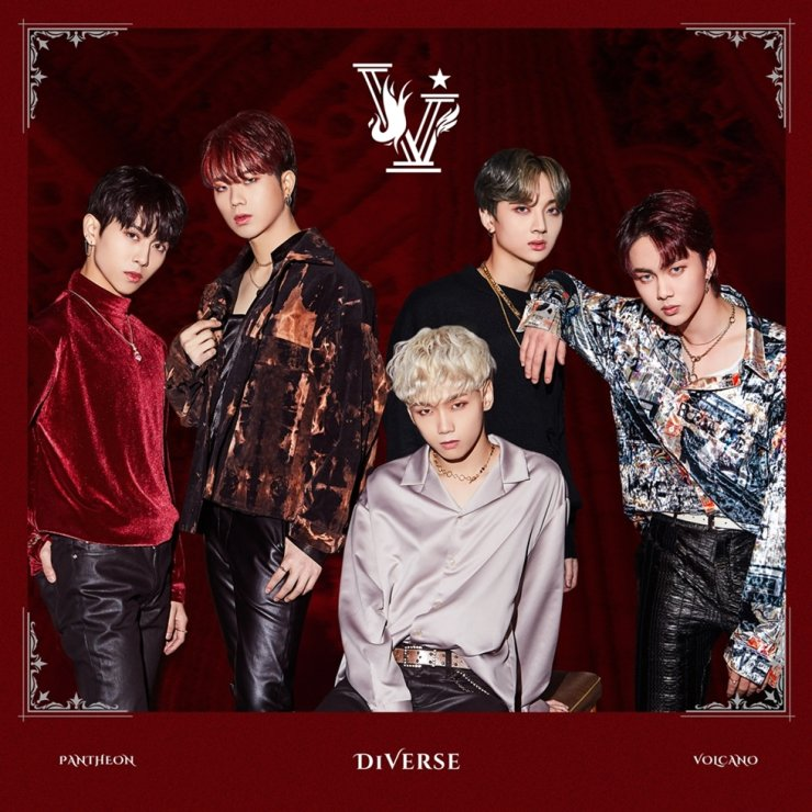 Vietnamese boy band D1Verse will officially debut on Feb. 27 with the album 'PANTHEON : VOLCANO.' Courtesy of RBW