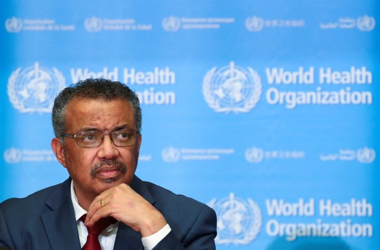 World Health Organization Director-General Tedros Adhanom Ghebreyesus attends a news conference on the novel coronavirus (2019-nCoV) in Geneva, Switzerland, Feb. 6. Reuters