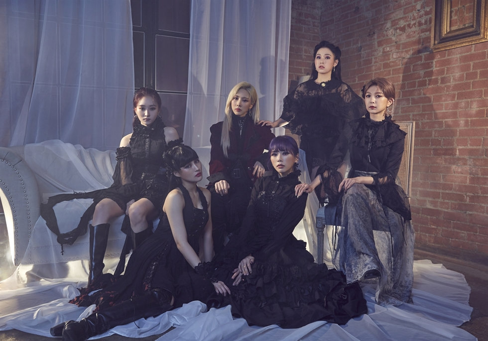K-pop girl band Dreamcatcher released its first studio album 'Dystopia: The Tree of Language' on Tuesday. Courtesy of Dreamcatcher Company