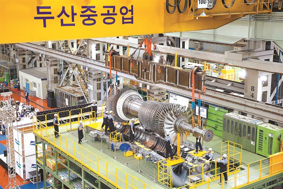 Seen above is a thermal power plant in Sipat, India. Doosan Heavy Industries & Construction participated in the construction of the plant. Courtesy of Doosan