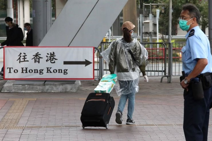A traveler arrives in Hong Kong from the mainland via the Shenzhen Bay Port. South China Morning Post