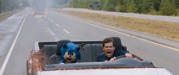 Paramount's big-budget film 'Sonic the Hedgehog' has taken a little over 742 million won ($624,000) at the box office since its premiere on Feb. 12. Courtesy of Lotte Entertainment