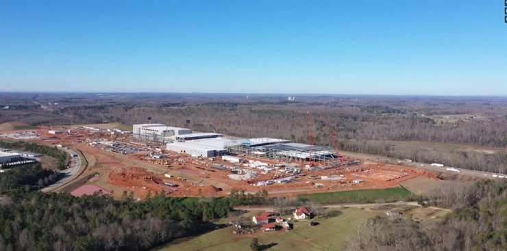 Seen is construction site of SK Innovation's battery plant in Georgia, which is scheduled to begin mass production in 2022. / Courtesy of SK Innovation