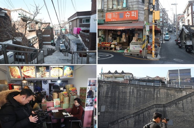 Filming spots of 'Parasite' / Yonhap