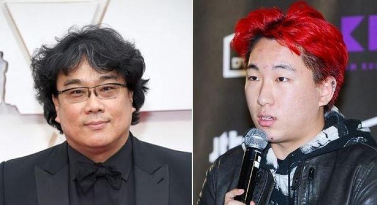 Bong Joon-ho and his son Hyo-min.