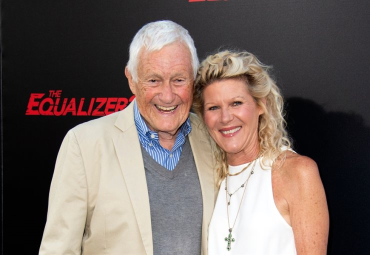 In this file photo taken on July 17, 2018, actor Orson Bean (L) and his wife actress Alley Mills attend 'The Equalizer 2' premiere at the TCL Chinese Theater in Hollywood, Calif. Orson Bean was killed on Feb. 7, 2020, after being struck by two vehicles while crossing a street in Los Angeles. AFP