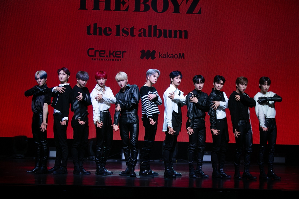 K-pop band The Boyz released its first studio album 'REVEAL' on Monday. Courtesy of Cre.Ker Entertainment