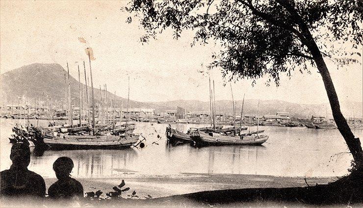 Wonsan port, circa 1900s.  Courtesy of Diane Nars Collection