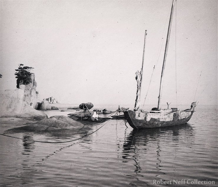 A boat in the East Sea circa 1930s.  Robert Neff Collection
