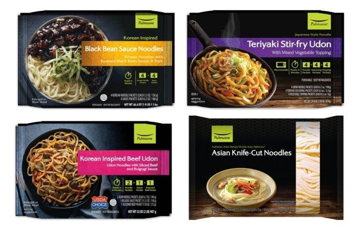 Pulmuone's premium fresh noodle items / Courtesy of Pulmuone