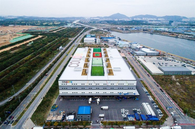 Coupang's warehouse in Incheon is seen in this 2019 file photo. / Courtesy of Coupang