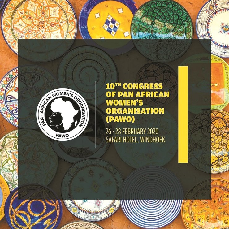 A poster for the 10th Congress of Pan-African Women's Organization