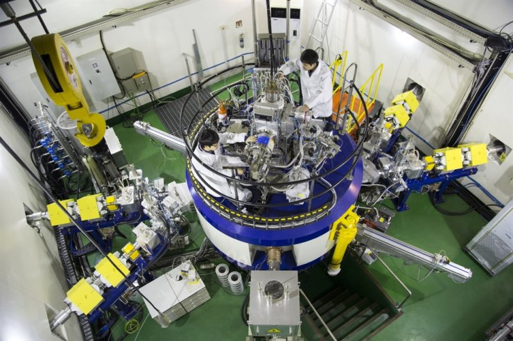 Seen is the Korea Atomic Energy Research Institute's (KAERI) cyclotron used to produce Cu-67 medical isotope. / Courtesy of KAERI