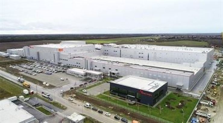 SK Innovation's electric vehicle battery plant in Komarom, Hungary. /Courtesy of SK Innovation