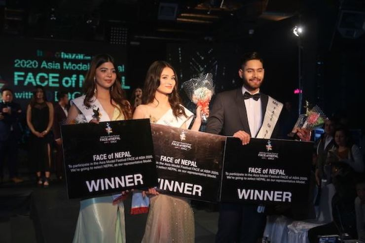 Winners of the FACE of Nepal 2020. Courtesy of AMFOC