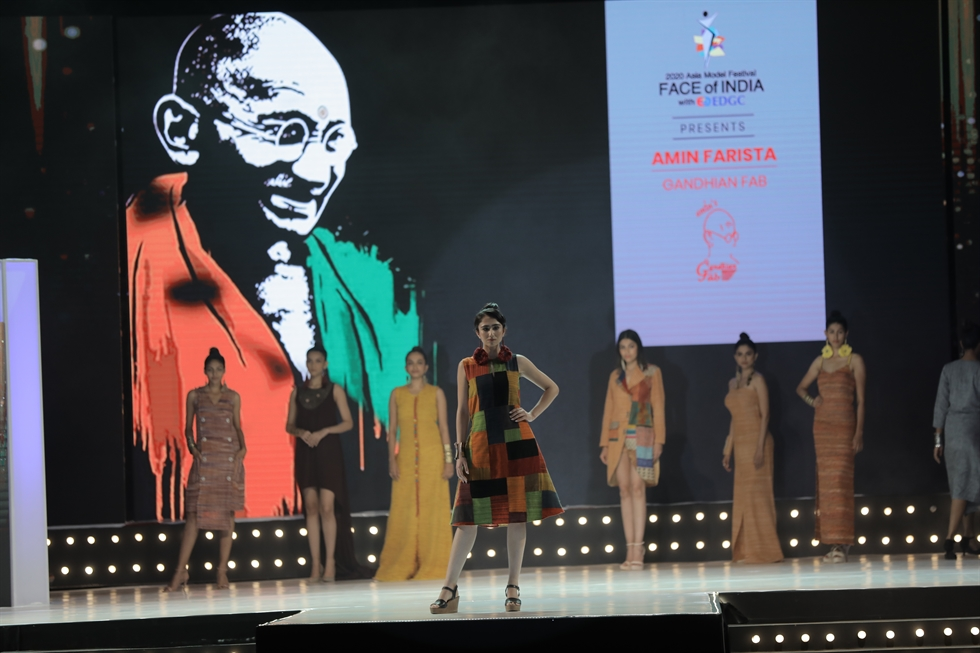 The winners of the FACE of India 2020, from left, are Arya Upadhay, Omni Thakker, Ekta Maru, Priyanka Kapil and Ranaksh Rana. Courtesy of Asia Model Festival Organizing Committee (AMFOC)
