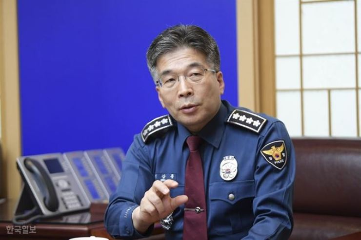 Min Gap-ryong, commissioner general of the Korean National Police Agency / Korea Times file
