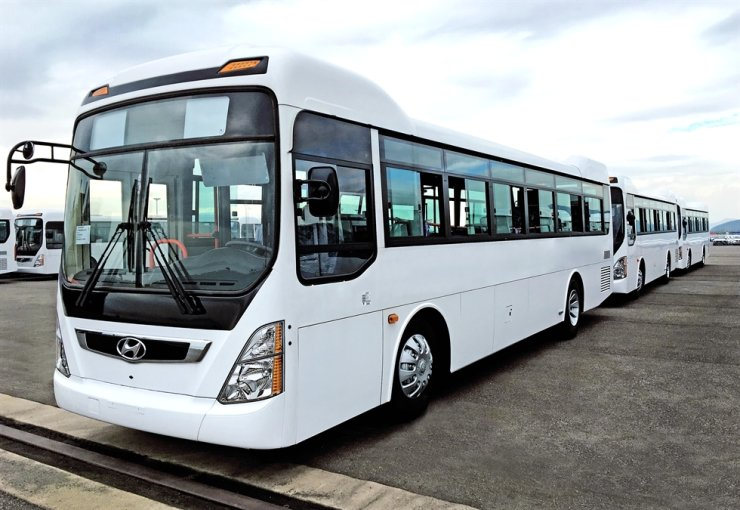 Hyundai Motor's New Super Aero City buses. / Courtesy of Hyundai Motor