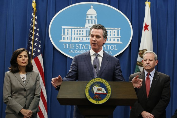 In the aftermath of the first California resident to die from the coronavirus, California Gov. Gavin Newsom declared a statewide emergency to deal with the virus, at a Capitol news conference in Sacramento, Calif., Wednesday, March 4, 2020. /AP