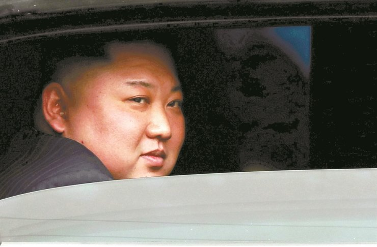 North Korea's leader Kim Jong-un sits in his vehicle after arriving at a railway station in Dong Dang, Vietnam, at the border with China, Feb. 26, 2019 file photo. /Reuters-Yonhap
