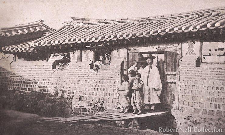 A Korean apothecary and his establishment in Seoul, circa 1883-84. Robert Neff Collection