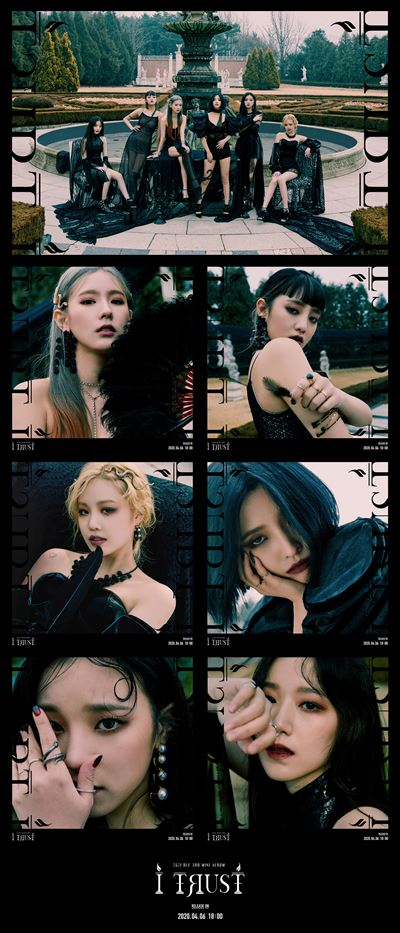 K-pop girl band (G)I-DLE released its third mini-album 'I trust' Monday afternoon. Courtesy of Cube Entertainment